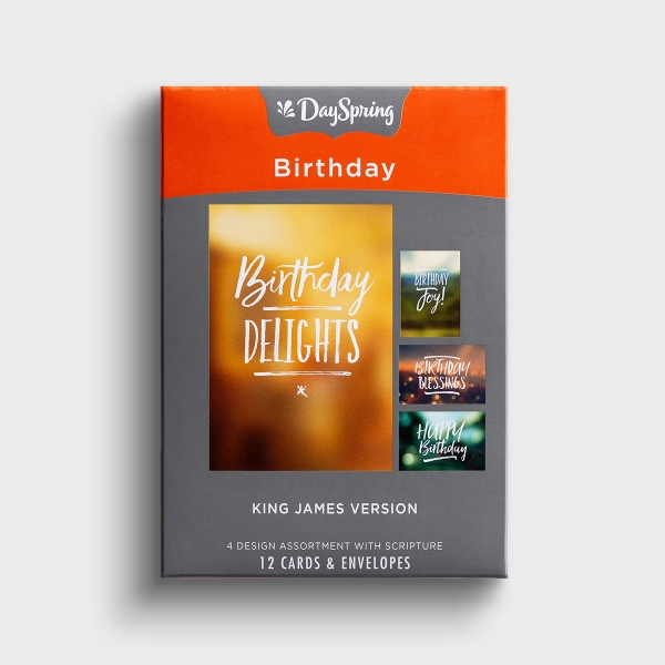 Birthday - Simply Stated - 12 Boxed Cards, KJV