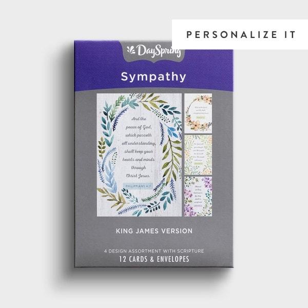 Sympathy - Botanical Frames - 12 Boxed Cards, KJV