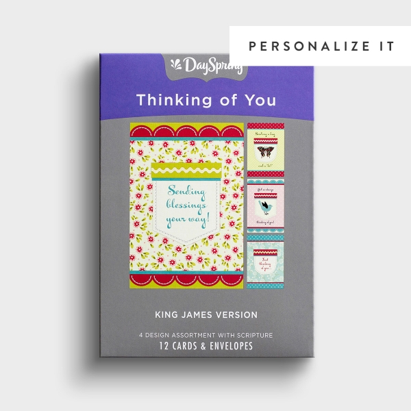 Thinking of You - Pockets of Inspiration - 12 Boxed Cards, KJV