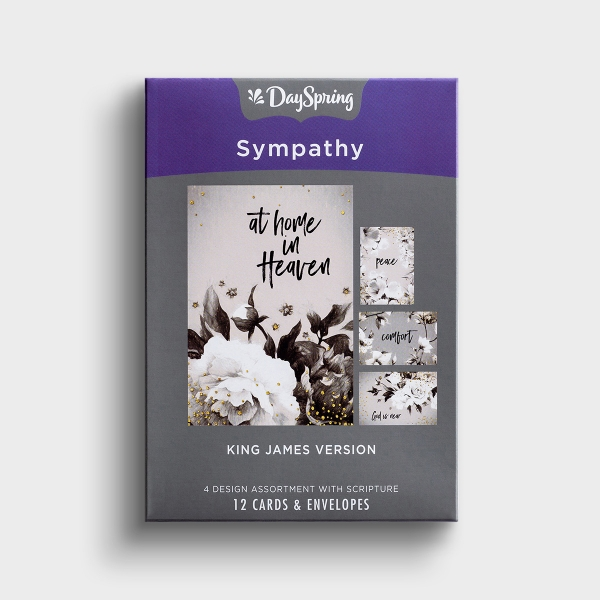 Sympathy - Peace and Comfort - 12 Boxed Cards, KJV