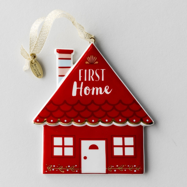First Home - Porcelain Christmas Ornament