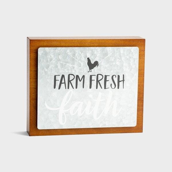 Farm Fresh Faith - Wood & Metal Wall Art