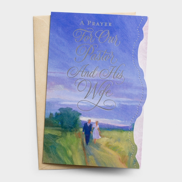 Ministry Appreciation - Pastor and His Wife - Thanking God for You - 1 Premium Card