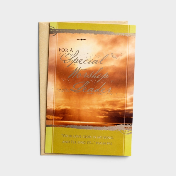 Ministry Appreciation - For A Special Worship Leader - 1 Premium Card