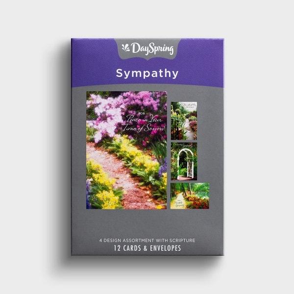 Sympathy - Peaceful Paths - 12 Boxed Cards, KJV