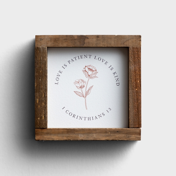 Love Is Patient Love Is Kind - Framed Tabletop Plaque