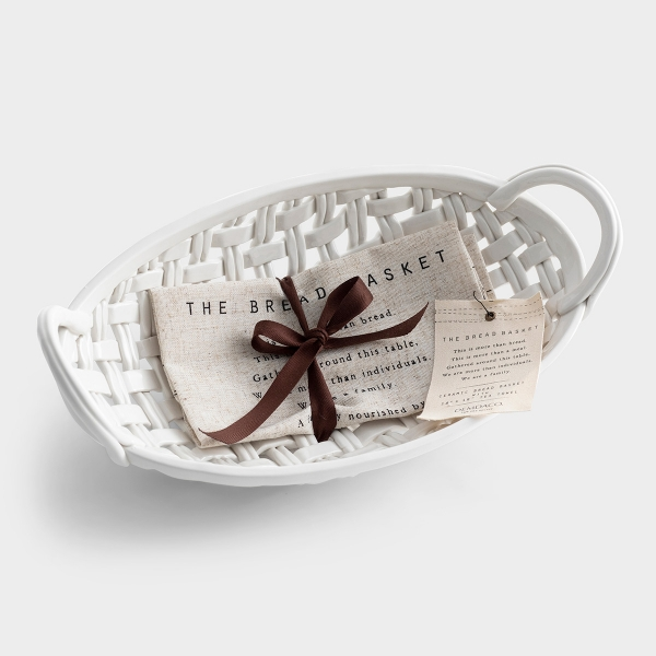 Gatherings Bread Basket with Towel - Gift Set