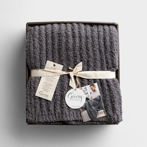 Giving Blanket for Men - Dark Gray