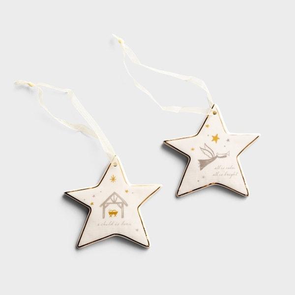 Rejoice Star Ornaments - Set of 2
