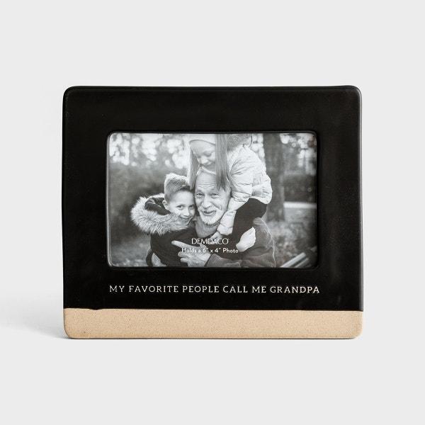 My Favorite People Call Me Grandpa - Ceramic Photo Frame