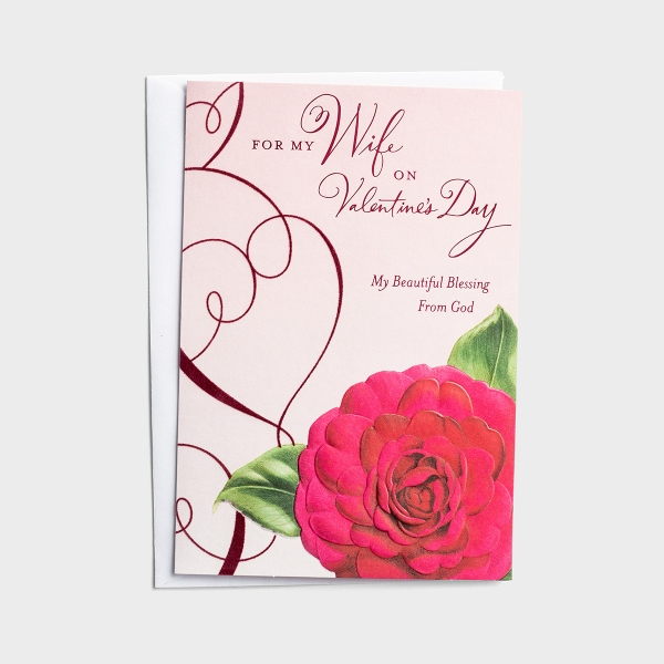 Valentine's Day - Wife - My Beautiful Blessing - 1 Card