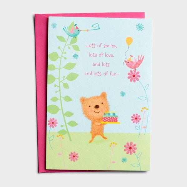 Birthday - Aunt - Lots Of Love - 1 Premium Card