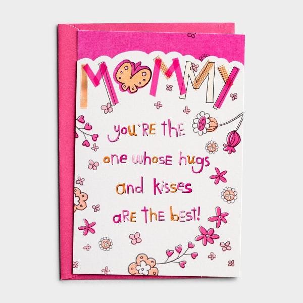 Birthday - Mom - Hugs and Kisses - 1 Premium Card
