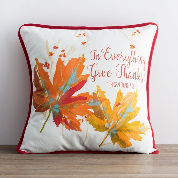 Give Thanks - Throw Pillow