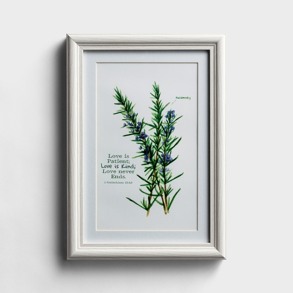 Love Is Patient - Botanical Framed Wall Art