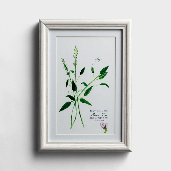 May the Lord Bless You - Botanical Framed Wall Art