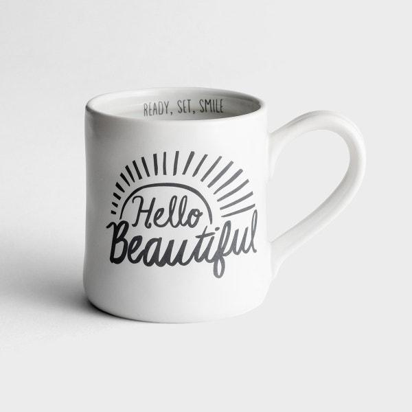 Hello Beautiful - Hand-Thrown Mug