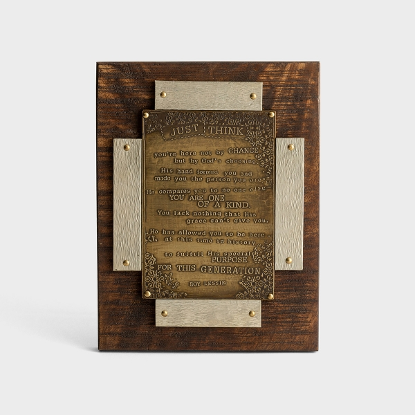 Just Think - Metal Wooden Plaque