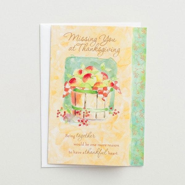 Thanksgiving - Missing You at Thanksgiving - 3 Premium Cards