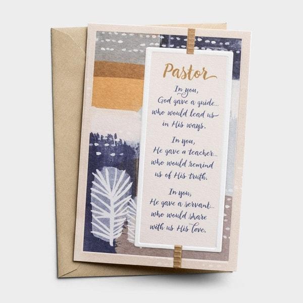 Ministry Appreciation - Pastor - In You, God Gave - 1 Premium Card