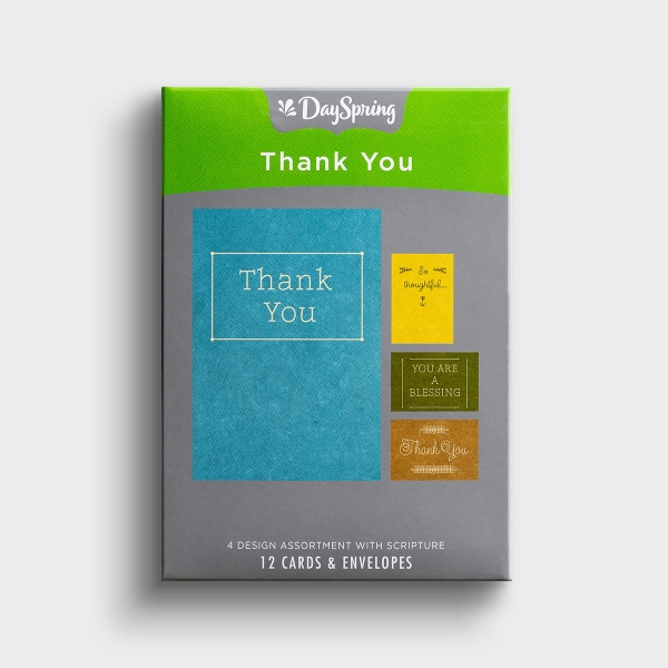 Thank You - Simply Stated - 12 Boxed Cards