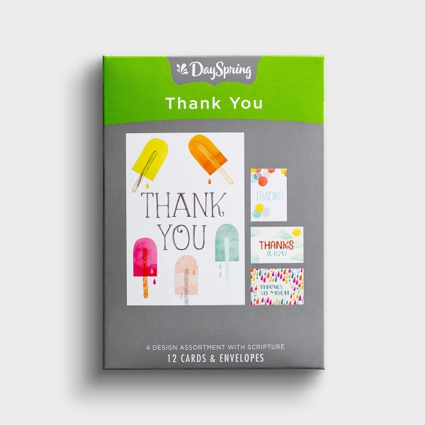 Thank You - Fun - 12 Boxed Cards - Blank