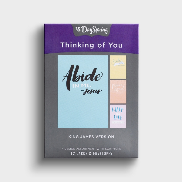 Thinking of You - Bible Letters - 12 Boxed Cards, KJV
