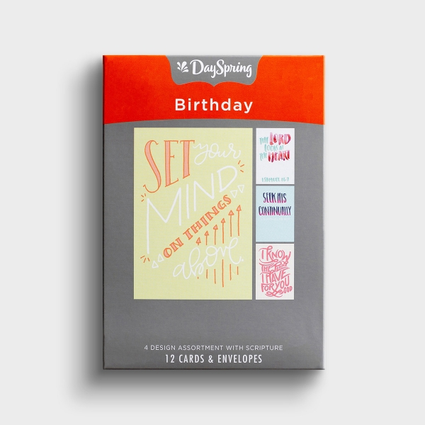 Birthday - Bible Letters - 12 Boxed Cards