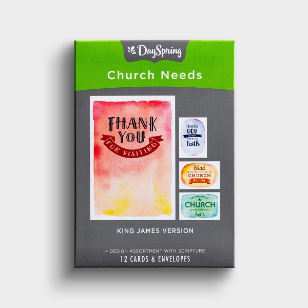 Church Occasions - Thoughtful Messages - 12 Boxed Cards, KJV