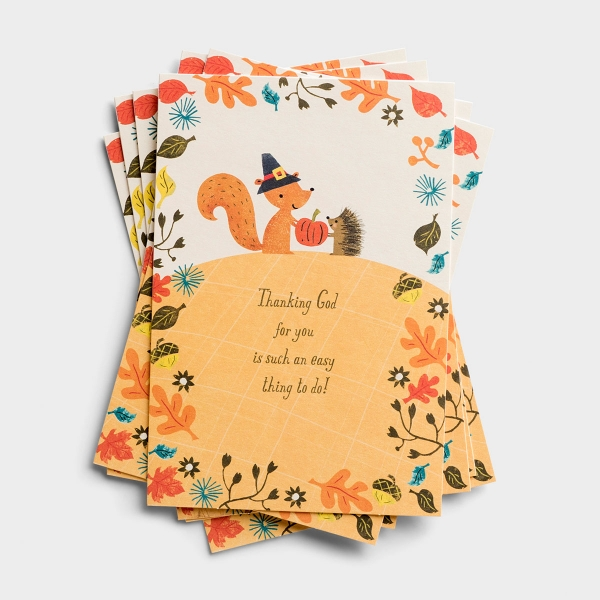 Send Christian Thanksgiving blessings to family and friends with these inspirational note cards from DaySpring.