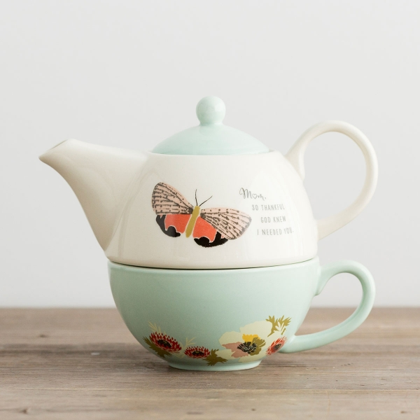 So Thankful - Teapot and Cup Set for Mom