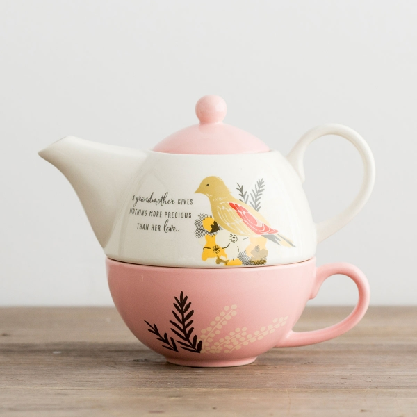 Nothing More Precious - Teapot and Cup Set for Grandmother