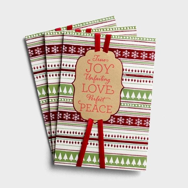 Christmas - True Joy, Unfailing Love, Perfect Peace - 3 Premium Cards