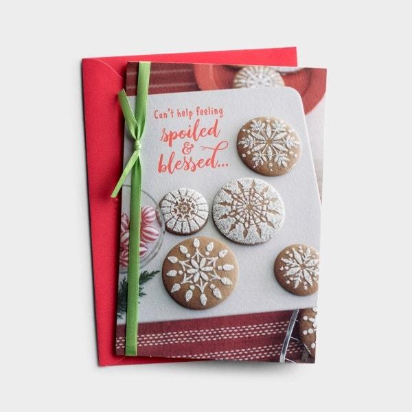 Christmas - Grandparents - Spoiled & Blessed - 1 Premium Card