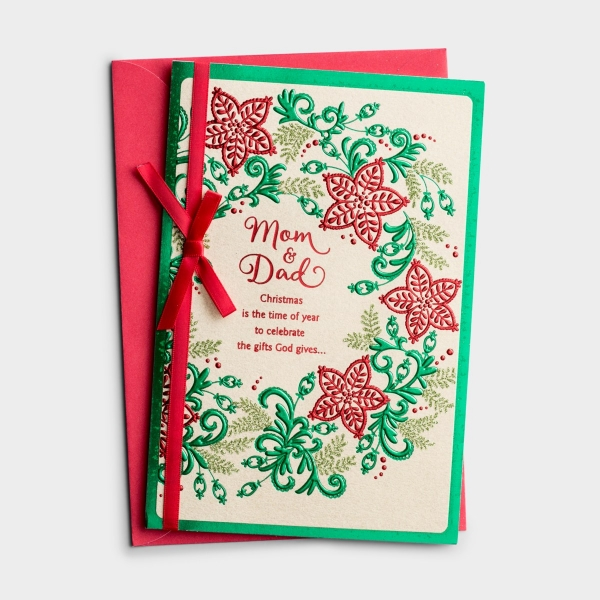 Christmas - Mom & Dad - Christmas Is the Time of Year - 1 Premium Card