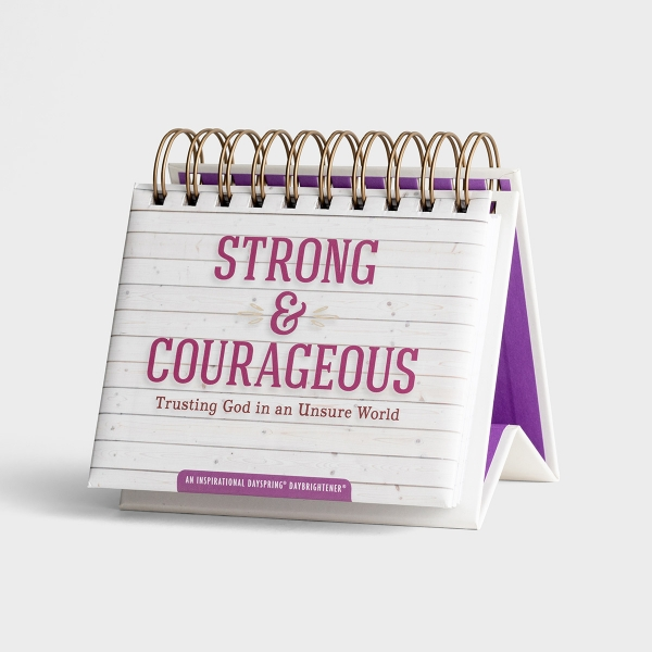 Strong & Courageous: Trusting God in an Unsure World - Perpetual Calendar
