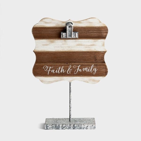 Faith & Family - Wooden Photo Clipboard
