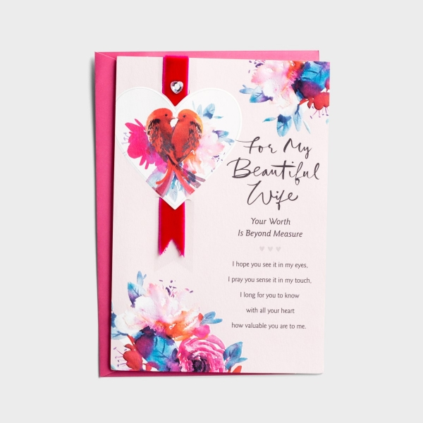 Valentine's Day - Wife - Worth Beyond Measure - 1 Card