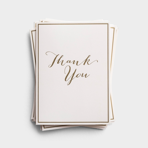 Thank You - 10 Premium Note Cards - Blank