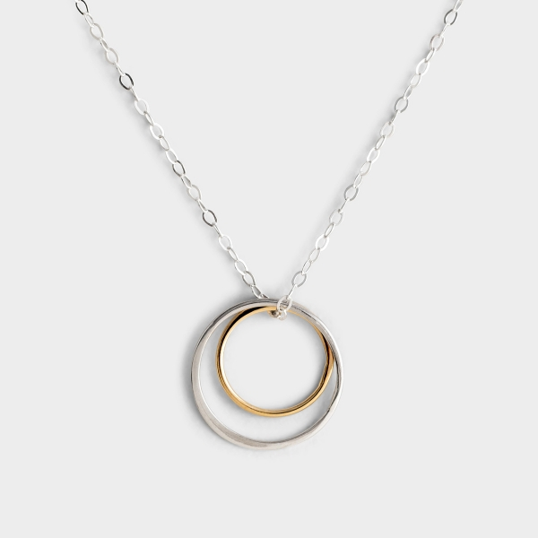 Love Between Mother & Daughter - Silver Necklace