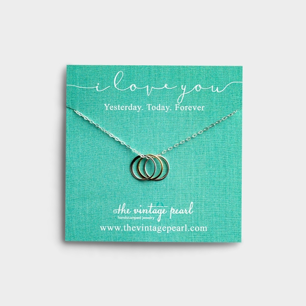 I Love You Forever - Silver Necklace