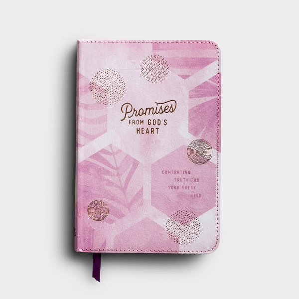 In this devotional book by DaySpring, Promises From God's Heart, Comforting Truth for Your Every Need, you will receive 167 pages of God's Word. Experience comfort, peace, and genuine joy as you rest in the almighty, loving arms of Jesus.