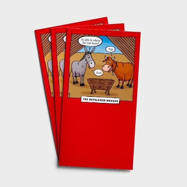 Christmas - Bethlehem Manger - 3 Money & Gift Cards