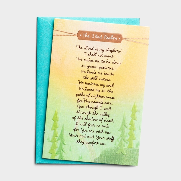 Encouragement - His Shepherd's Heart - 1 Premium Card