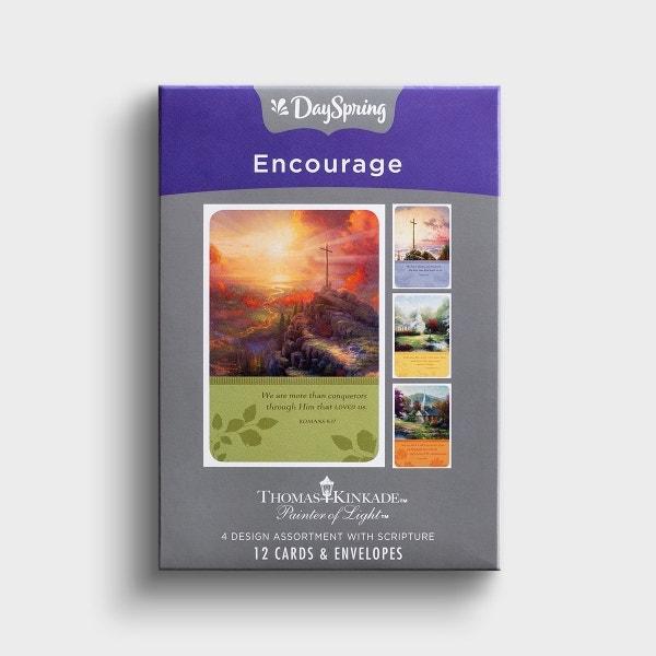 Thomas Kinkade - Encouragement - 12 Boxed Cards, KJV