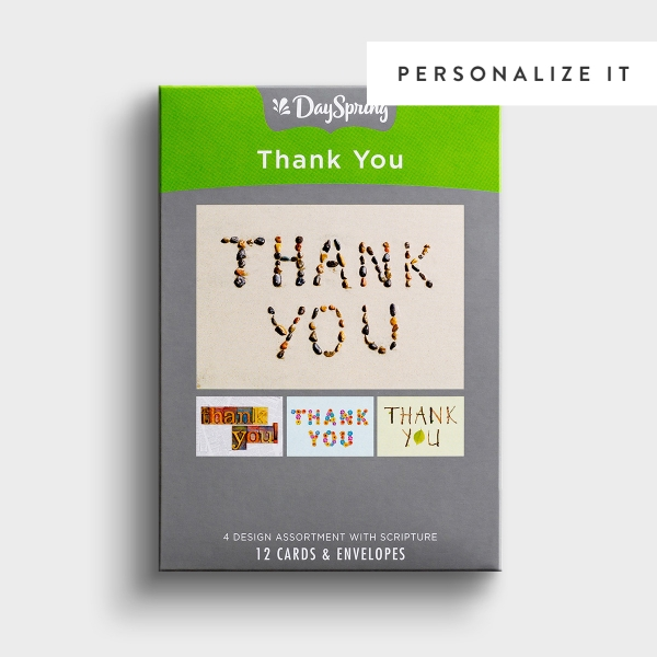 Thank You - Many Blessings - 12 Boxed Cards, KJV
