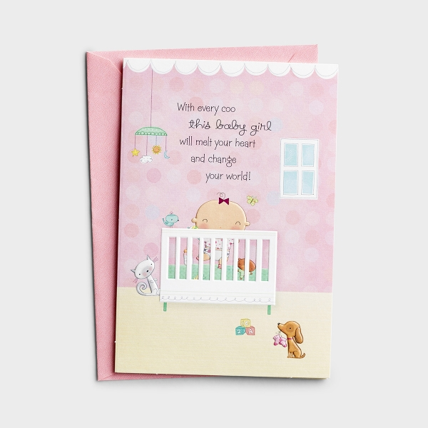 Baby Girl - God's Sweet Gift - 1 Premium Card