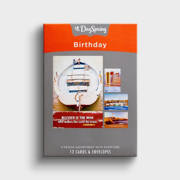 Birthday - Blessed Is the Man - 12 Boxed Cards
