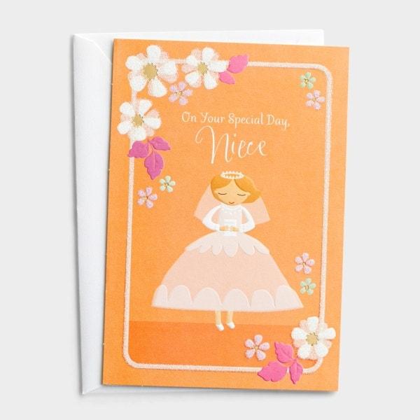 Communion - Niece - Special Day - 1 Premium Card