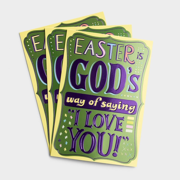 Easter - Child - I Love You - 3 Premium Cards